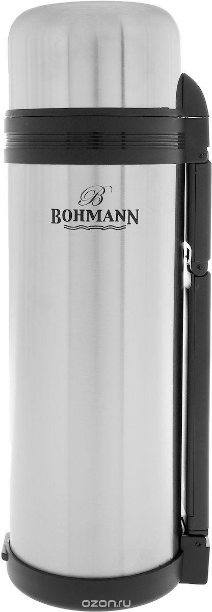 Термос BOHMANN 4100BH/б/чехла, серебристый4100BH/б/чехлаТермос с узким горлом из нержавеющей стали. Ремень. Объём 1 л.