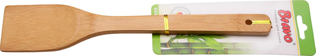 купить Лопатка кулинарная Bravo, 563, бежевый, длина 30 см по цене 89 рублей