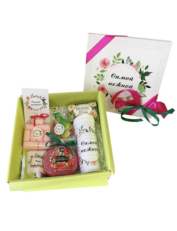 Сувенирный набор DREAMBOX Подарок женский Подарочный набор САМОЙ НЕЖНОЙ арт дизайн подарочный набор открытка с ручкой самой фееричной тебе