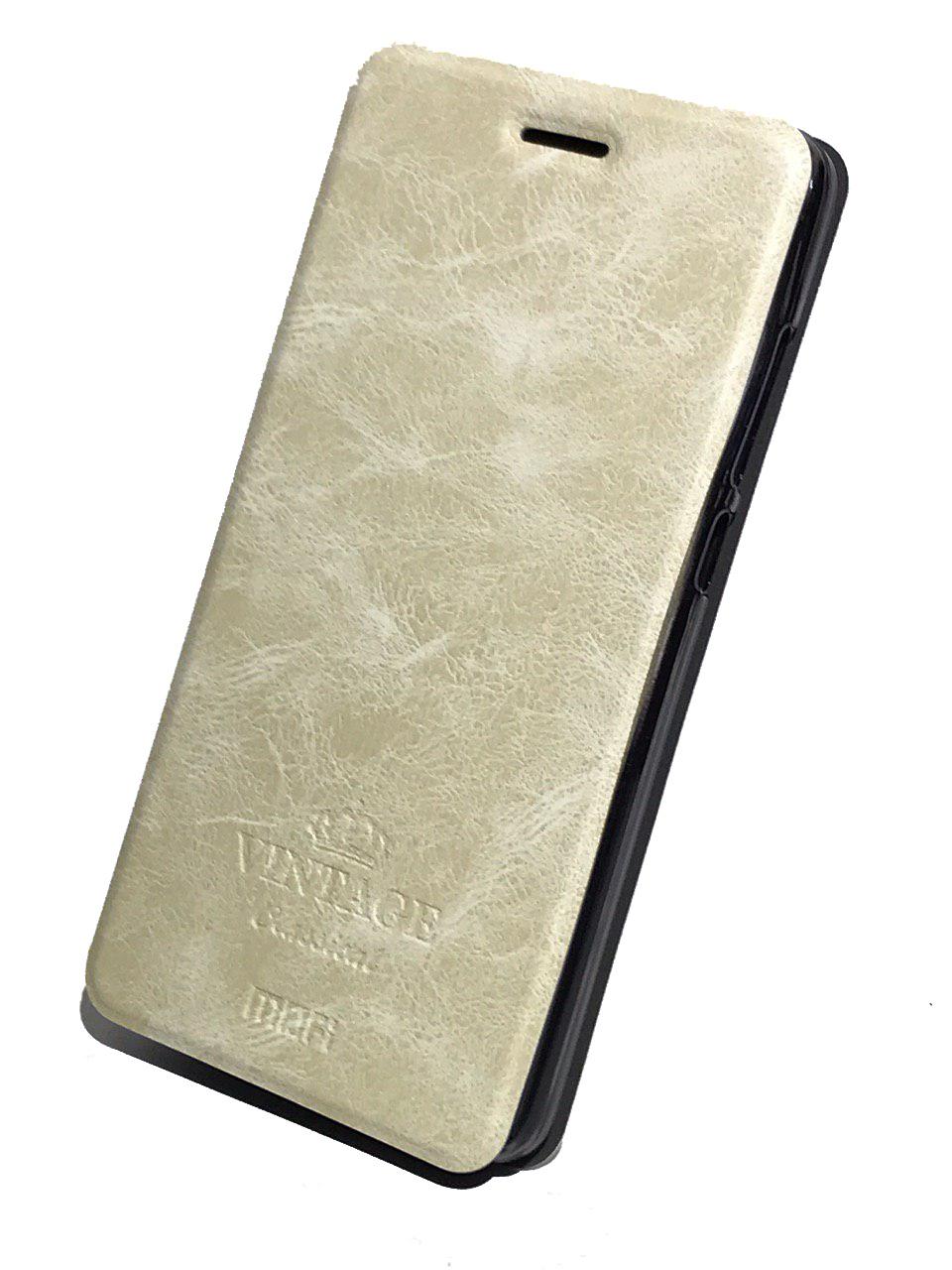 Чехол для Xiaomi Redmi 4A Книжка Vintage Xiaomi Redmi 4A Cream White leather case colorful flip cover for xiaomi redmi 4a white
