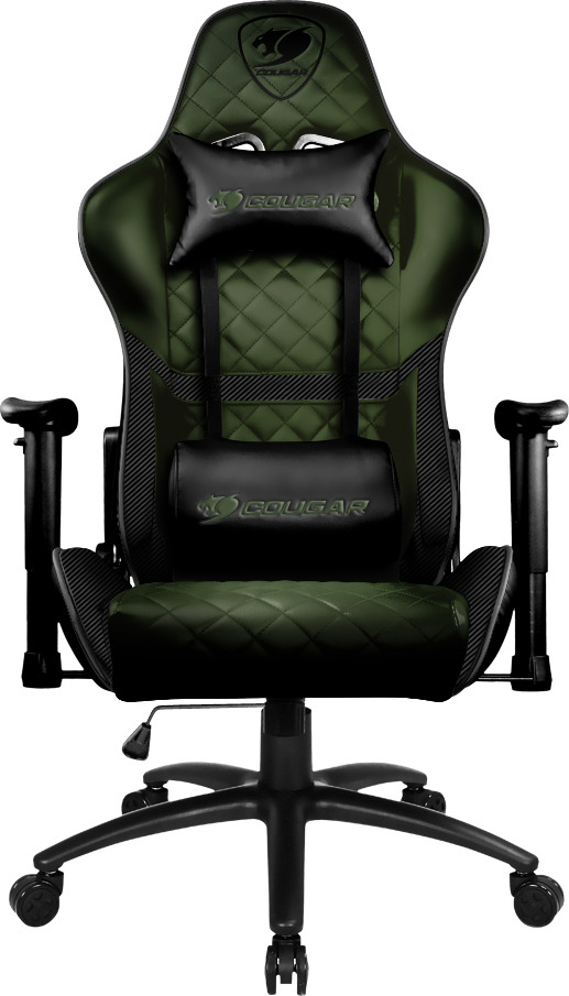 Игровое кресло Cougar Armor One, CU-ARMone-x, зеленый, черный цена и фото