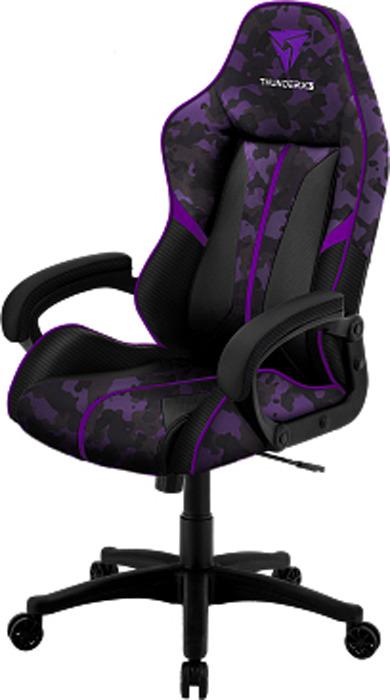 Игровое кресло ThunderX3 BC1 camo, TX3-BC1UV, фиолетовыйTX3-BC1UVИгровое кресло ThunderX3 BC1 камуфляж создано специально для того, чтобы обеспечивать максимальный комфорт. Оснащенное специальной технологией AIR Tech, ваше тело будет дышать, даже во время длительных игровых сессий. Технология AIR Tech - дышащая поверхность Экокожа нового поколения Долговечный наполнитель сиденья и спинки с высокой плотностью Уникальный дизайн с карбоновыми вставками Мягкие изогнутые подлокотники Механизм «качалка», раскачивание 3-18 градусов Настраиваемая высота сиденья Крупногабаритный товар.