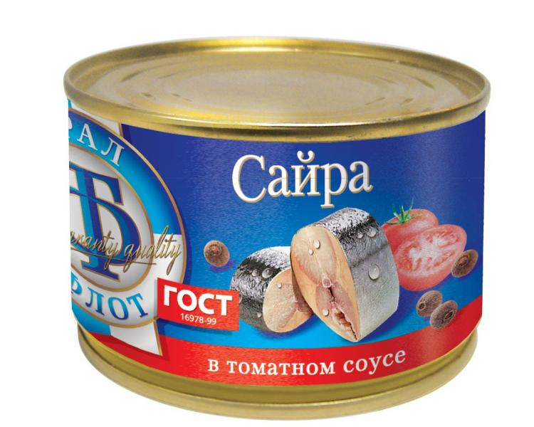 Рыбные консервы ТраллФлот 6815 Жестяная банка, 240