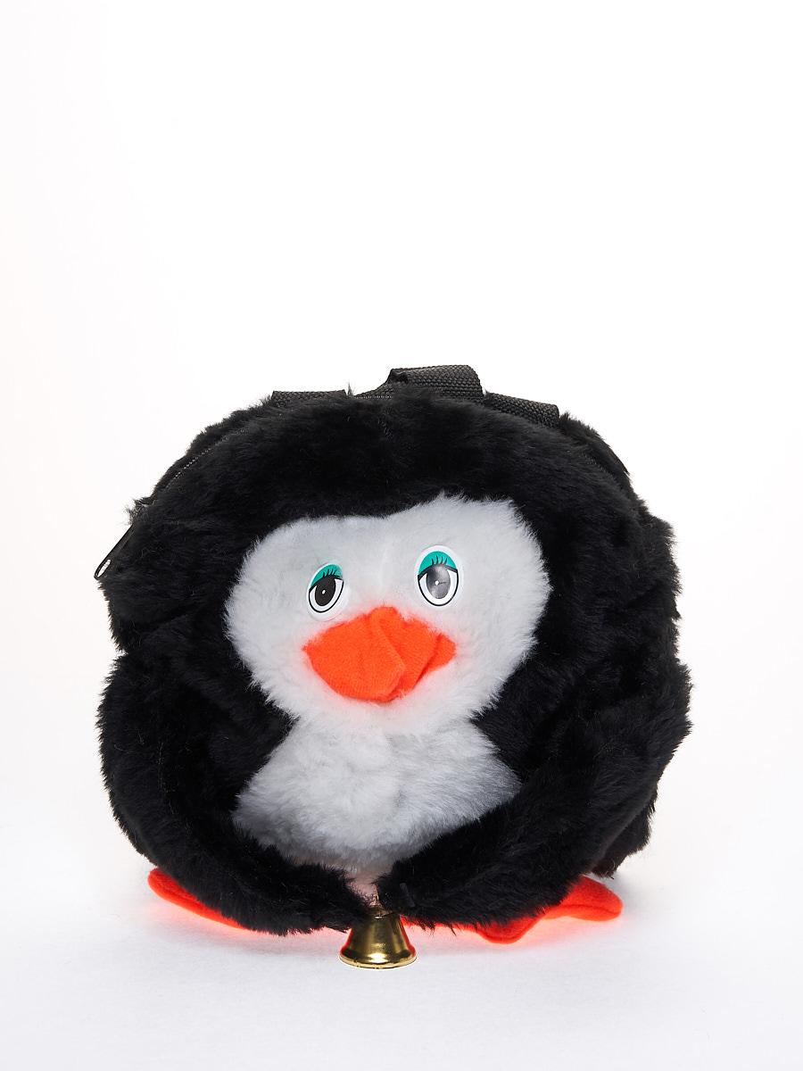 Мягкая игрушка Радомир С903/пингвин-рюкзак белый, черный