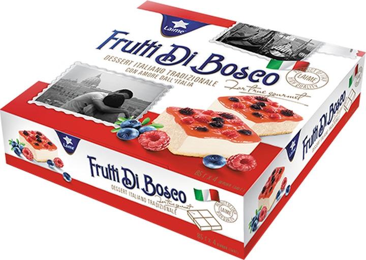 Торт Laime Фрутти ди Боско, 4 шт по 85 г десерт laime панна котта 2 шт по 100 г
