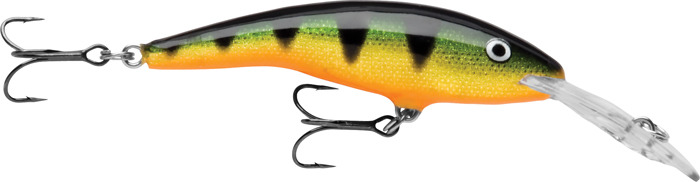 Воблер Rapala, плавающий, TD07-P, Green Tiger UV, длина 70 мм, 9 г