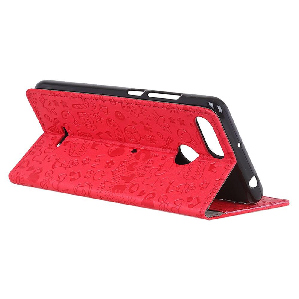 Чехол для сотового телефона Мобильная Мода Xiaomi Redmi 6 Чехол-книжка с отделм для карт и застежкой, красный красный дизайн кожа pu откидная крышка бумажника карты держатель чехол для xiaomi redmi 2 2a