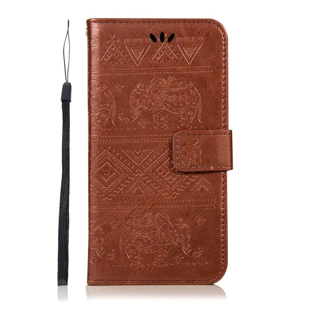 Чехол для сотового телефона Мобильная Мода Xiaomi Mi A2 Lite/ Redmi 6 Pro Чехол-книжка силиконовая с отделом для карт и шнурком на руку, коричневый (2007)
