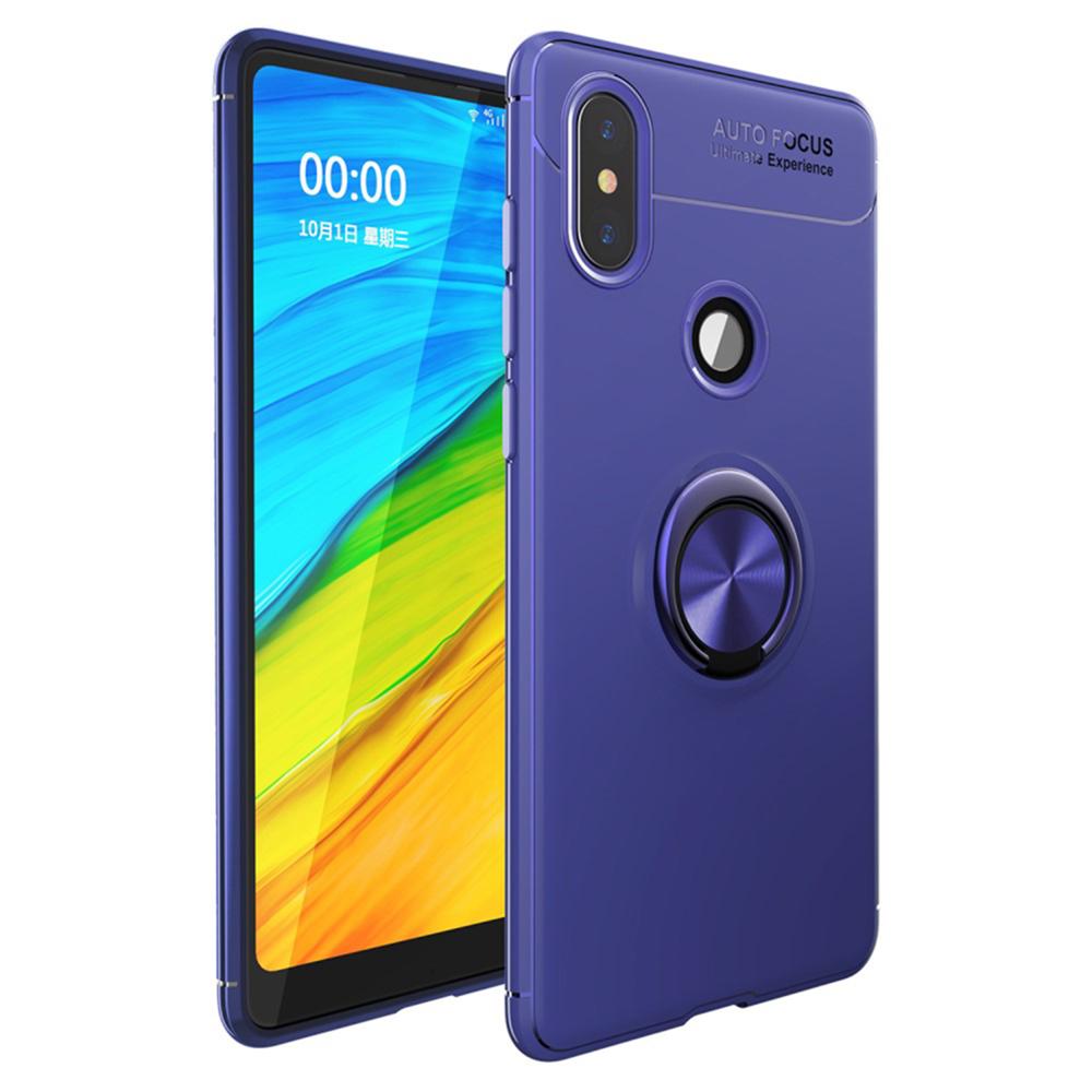 Чехол для сотового телефона Мобильная Мода Xiaomi Mi Mix 2s Синяя противоударная накладка с магнитной подставкой- кольцом, синий цена