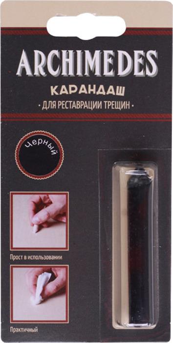 Карандаш восковой Archimedes, для реставрации трещин, черный