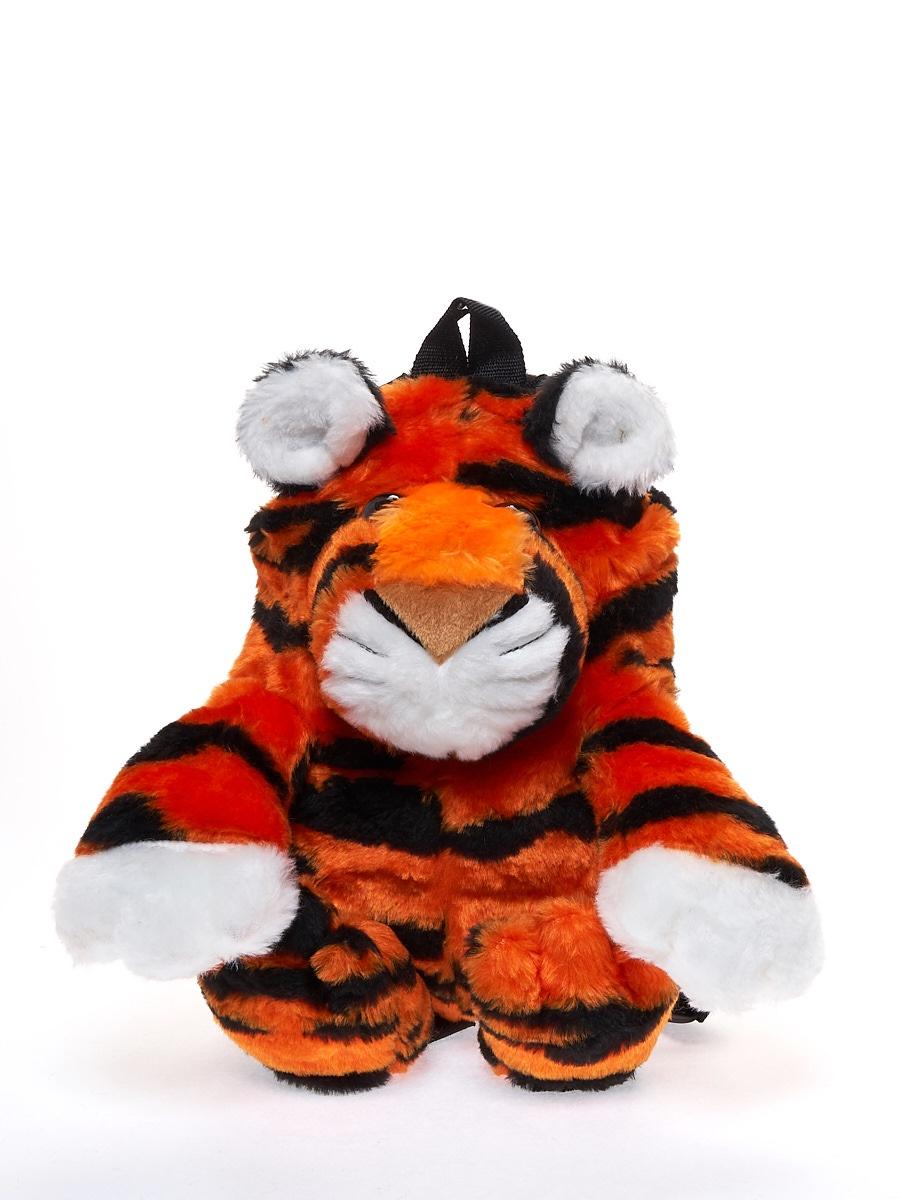 Мягкая игрушка Радомир С916/тигр-рюкзачок черный, оранжевый