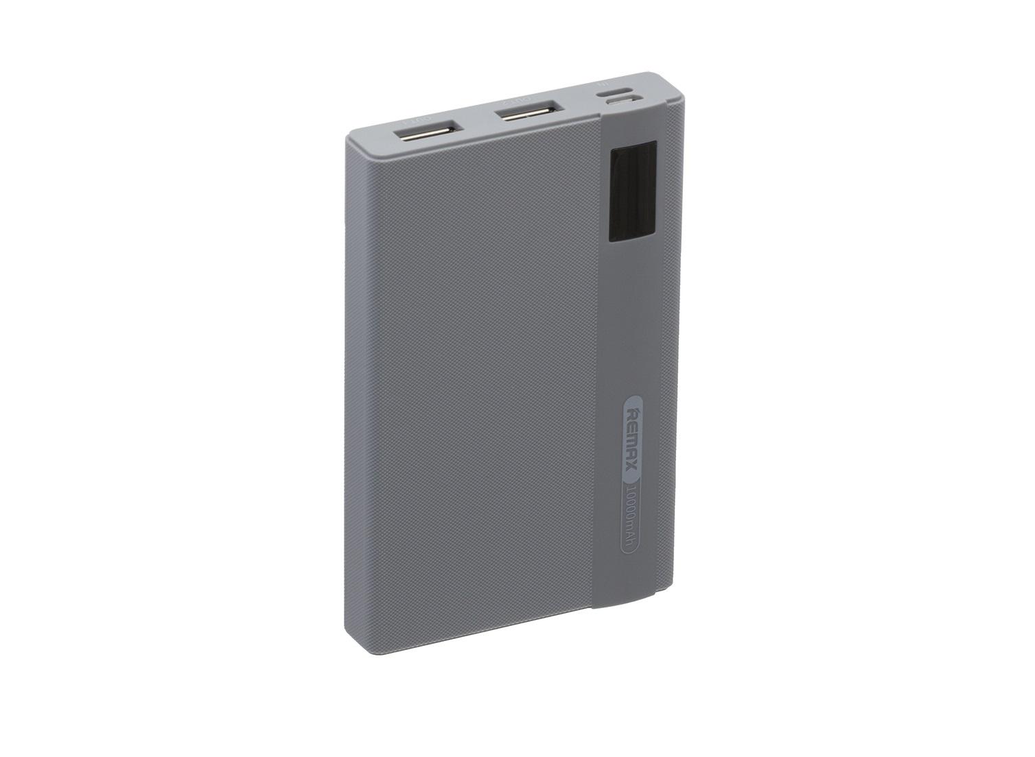 Внешний аккумулятор REMAX RPP-53, серый аккумулятор remax proda 30000 mah black