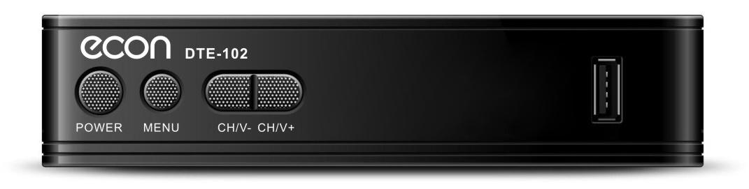 ТВ-тюнер/ресивер ECON DTE-102, черный