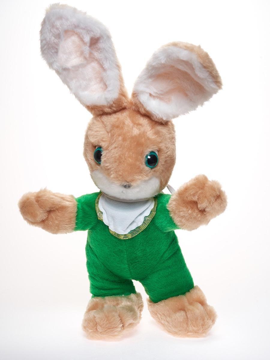 Мягкая игрушка Радомир С642/заяцандрюшка бежевый, зеленый