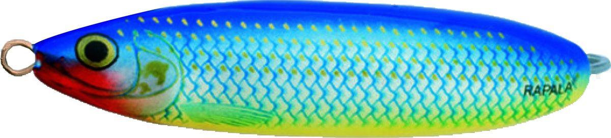 Блесна-незацепляйка колеблющаяся Rapala Minnow Spoon, RMS08-BSH, 8 см, 22 г