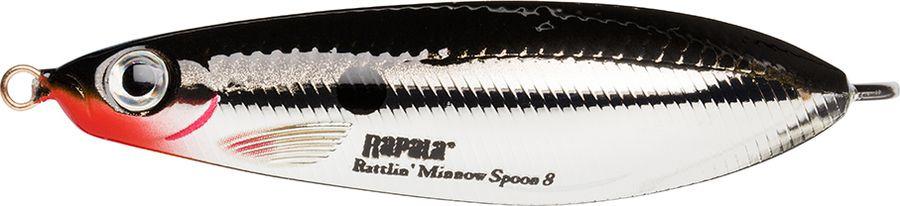 Блесна-незацепляйка Rapala Rattlin' Minnow Spoon, RMSR08-CH, 8 см, 16 г цена