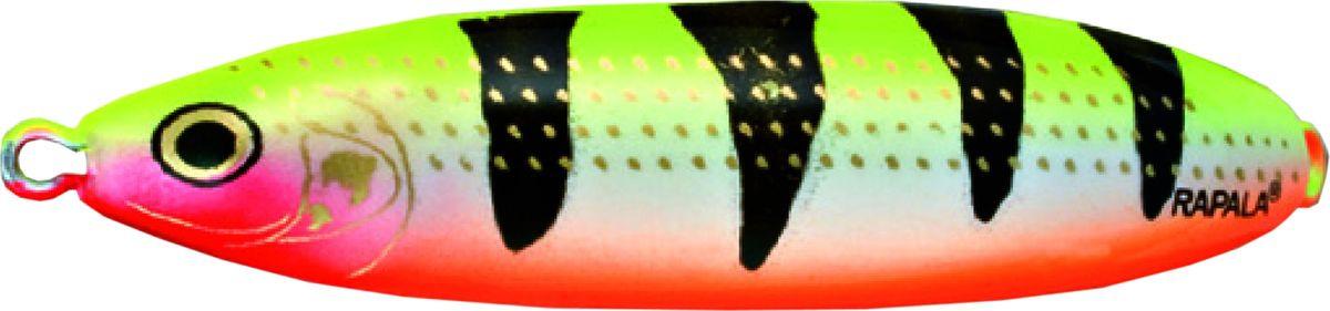 Блесна-незацепляйка колеблющаяся Rapala Minnow Spoon, RMS08-YOT, 8 см, 22 г