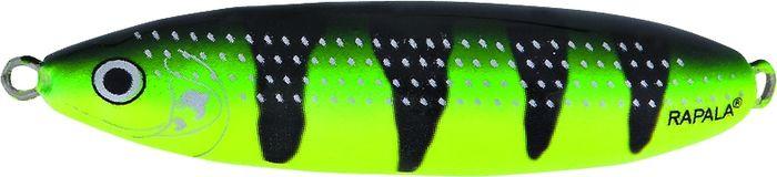 Блесна-незацепляйка колеблющаяся Rapala Minnow Spoon, RMS08-FYGT, 8 см, 22 г