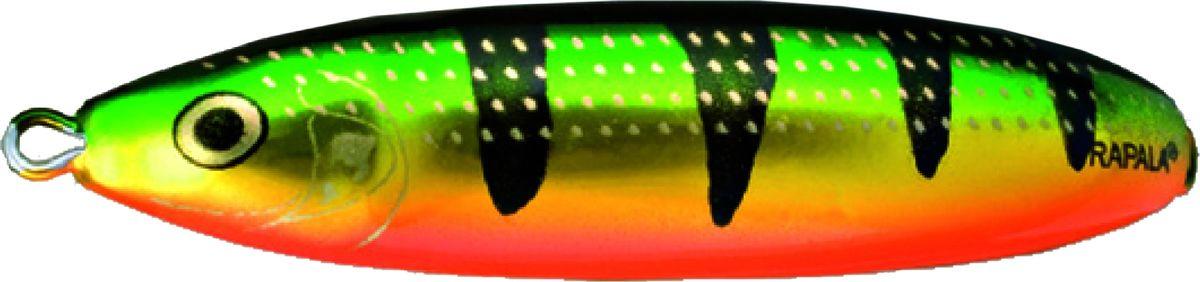 Блесна-незацепляйка колеблющаяся Rapala Minnow Spoon, RMS10-FLP, 10 см, 32 г