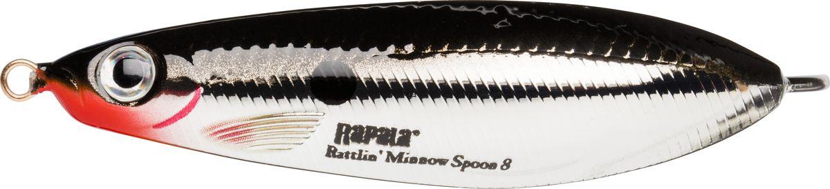 Блесна-незацепляйка колеблющаяся Rapala Minnow Spoon, RMS10-SH, 10 см, 32 г