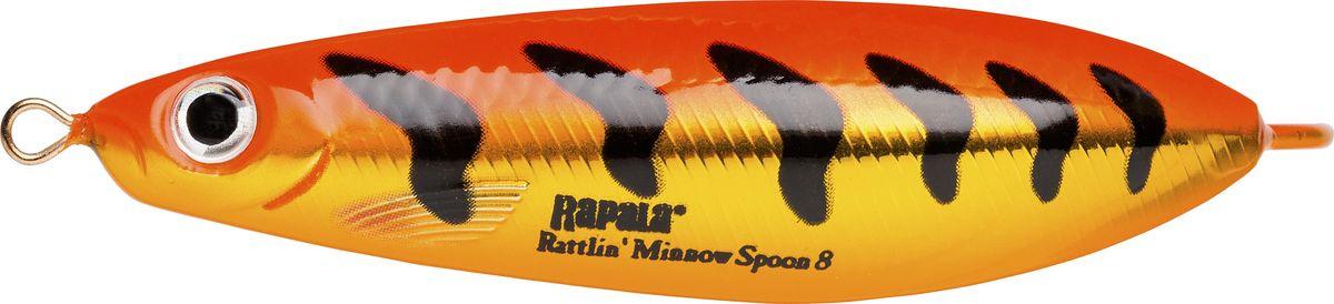 Блесна-незацепляйка Rapala Rattlin' Minnow Spoon, RMSR08-GFRT, 8 см, 16 г цена