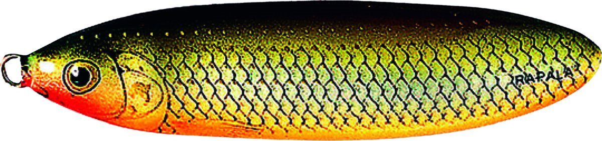 Блесна-незацепляйка Rapala Rattlin' Minnow Spoon, RMSR08-RFSH, 8 см, 16 г блесна незацепляйка rapala rattlin minnow spoon rmsr08 gsu 8 см 16 г