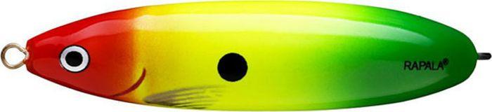Блесна-незацепляйка Rapala Rattlin' Minnow Spoon, RMSR08-RYGR, 8 см, 16 г блесна незацепляйка rapala rattlin minnow spoon rmsr08 gsu 8 см 16 г