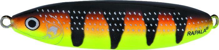 Блесна-незацепляйка колеблющаяся Rapala Minnow Spoon, RMS08-FYBT, 8 см, 22 г