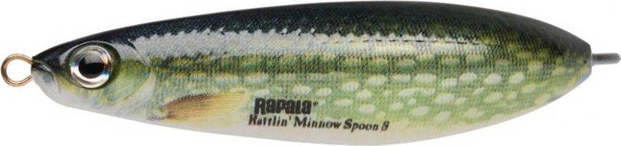 Блесна-незацепляйка Rapala Rattlin' Minnow Spoon, RMSR08-PK, 8 см, 16 г блесна незацепляйка rapala rattlin minnow spoon rmsr08 gsu 8 см 16 г