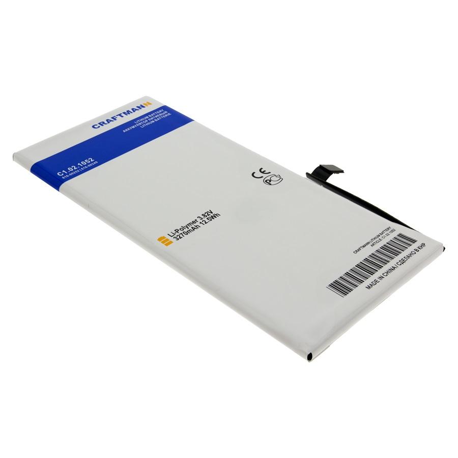Аккумулятор для телефона Craftmann для Apple iPhone 7 Plus с увеличенной ёмкостью до 3270 mAh (616-00252) аккумулятор для телефона craftmann для apple iphone 7 616 00259