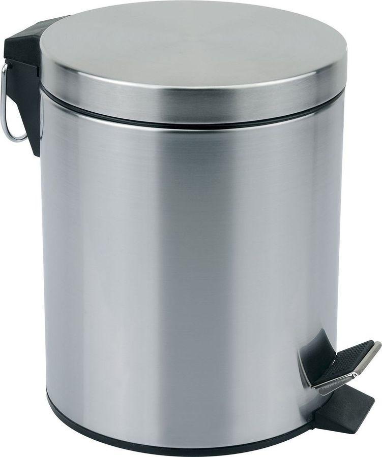 Контейнер для мусора в ванной Mallony Mallony, круглый, 310431, серебристый, 12 л чехол клип кейс lazarr soft touch для samsung galaxy s4 i 9500 пластик белый