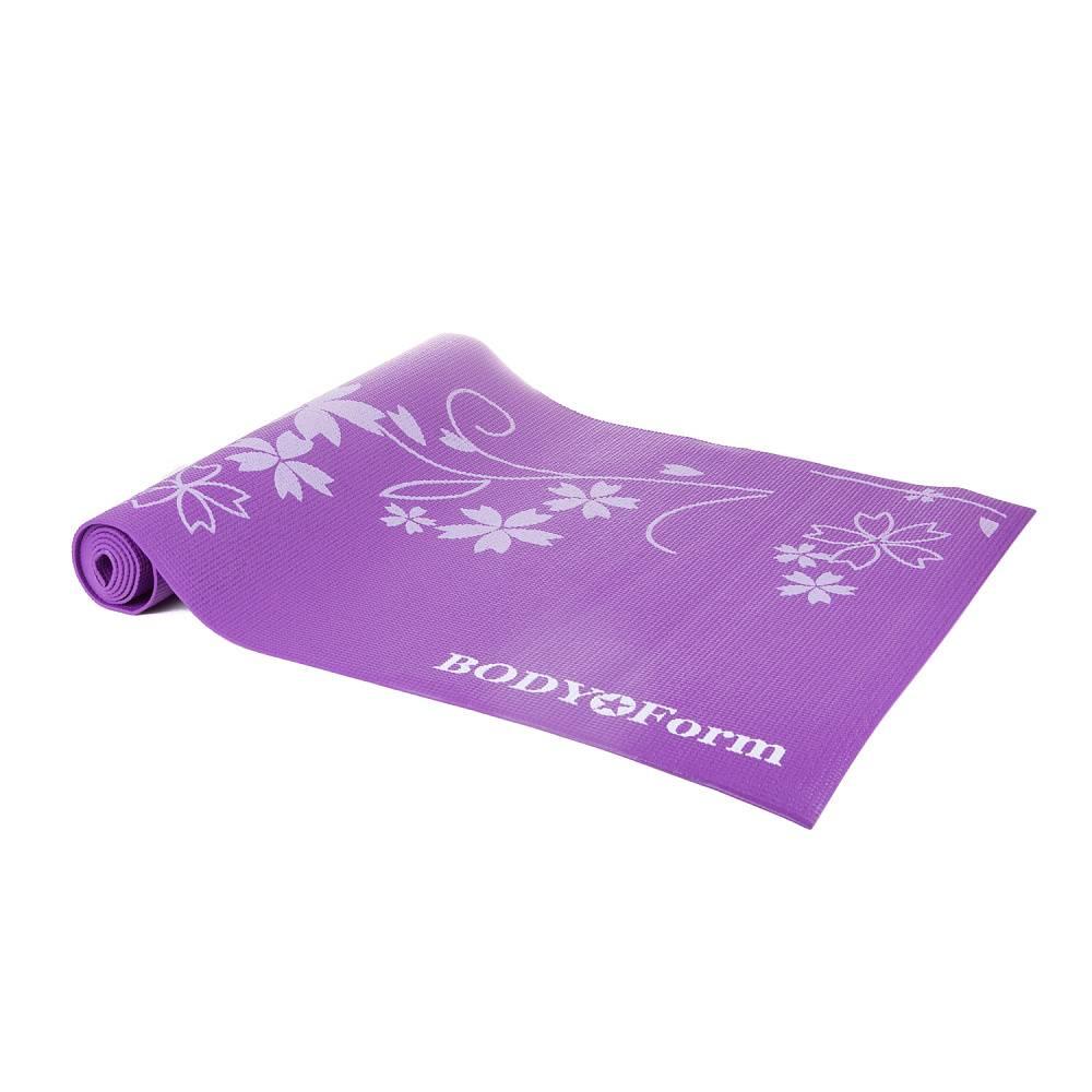 Коврик для йоги и фитнеса BodyForm BF-YM02, фиолетовыйBF-YM02-02Коврик гимнастический предназначен для практики йоги, занятий фитнесом и аэробикой. Коврик выполнен из легкого и прочного материала PVC Практичный и удобный; Имеет малый вес и габариты. Благодаря нескользящей поверхности коврика, Вы сможете получить максимум комфорта и удовольствия при занятиях. Поверхность легко моется и не вызывает раздражения на коже. Размер коврика : 173*61*0,4 см. Упаковка : термоусадочная пленка.