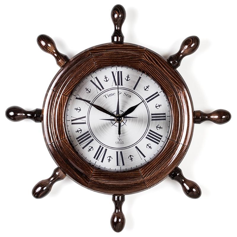 """Настенные часы Вега Д7МД-13""""Классика в стали"""""""