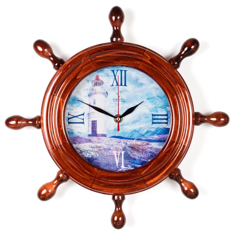 """Настенные часы Вега Д7КД-12""""Маяк в цветах"""""""