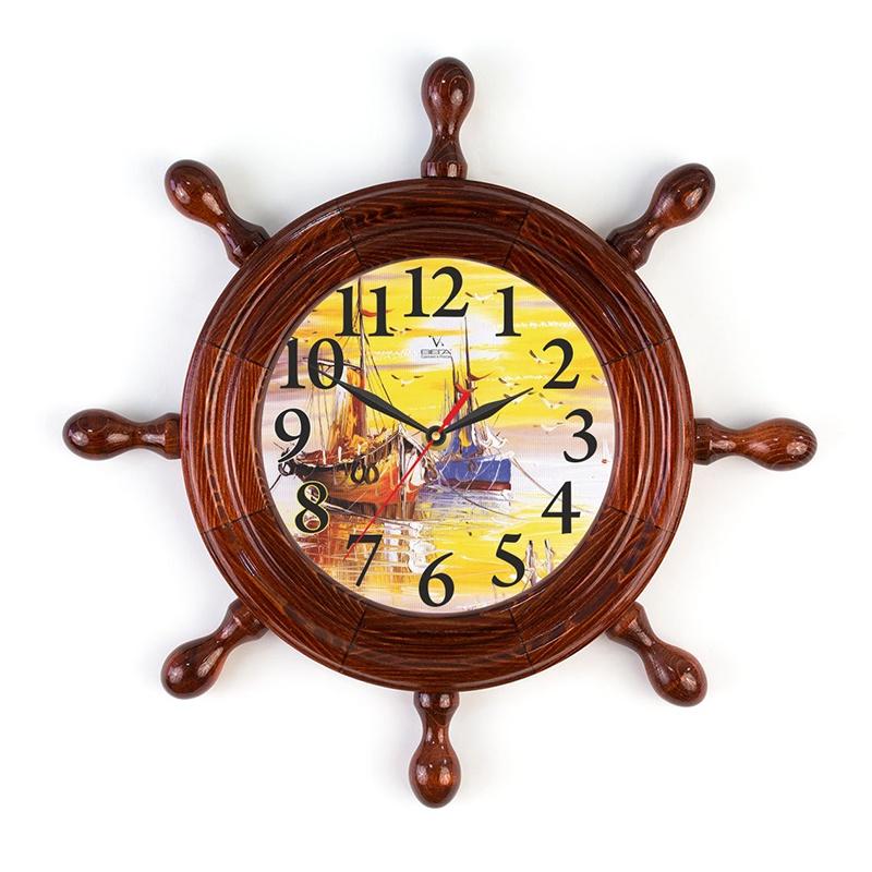 """Настенные часы Вега Д7КД-7 """"Корабли"""""""