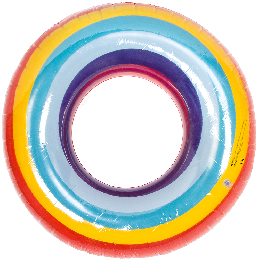 Круг надувной для купания Красный Куб Волшебная радуга, разноцветный, диаметр 1 м, ПВХ