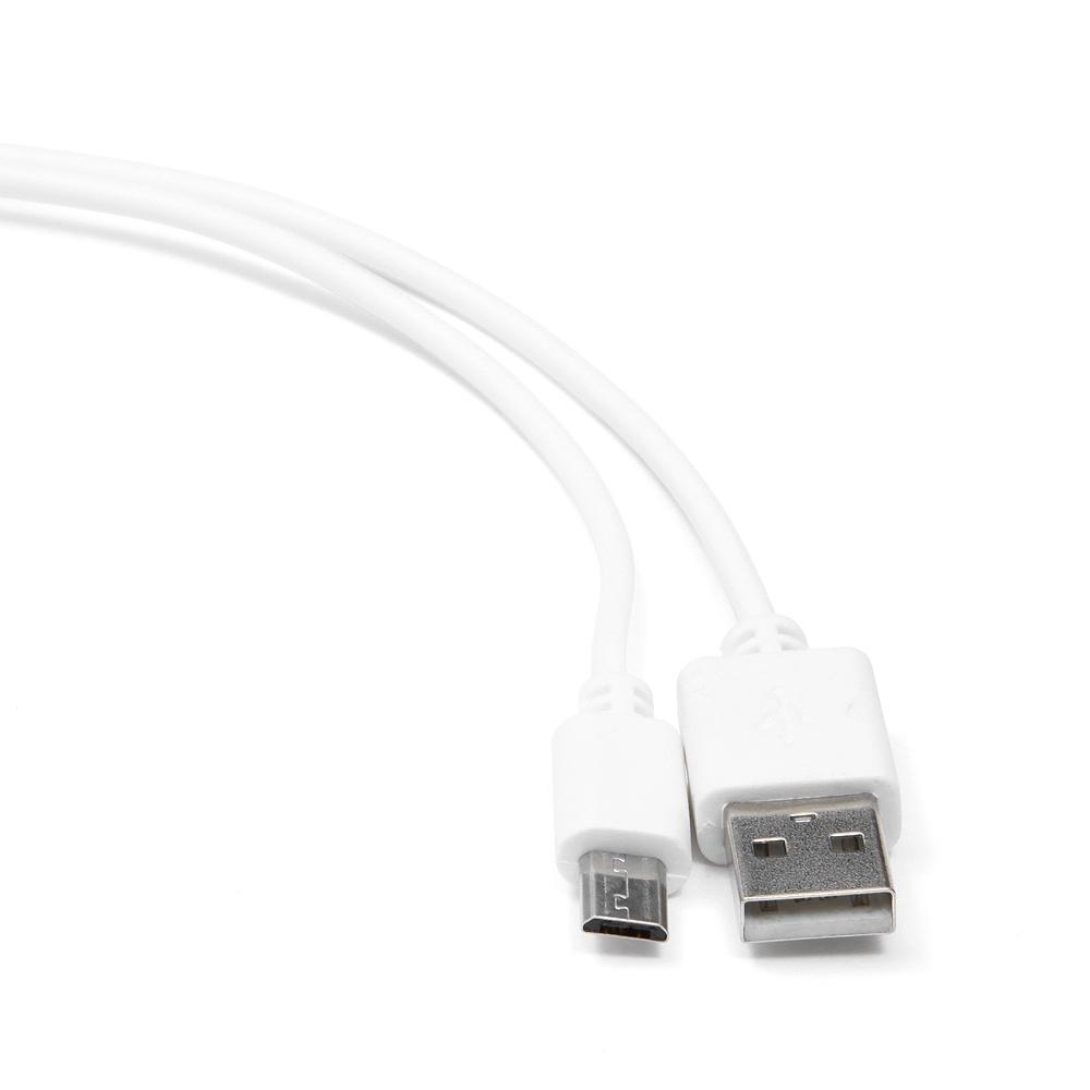 Кабель Cablexpert CC-mUSB2-AMBM-1MW, белый кабель usb 2 0 cablexpert am microbm 5p 1м розовый металлик cc musbr1m
