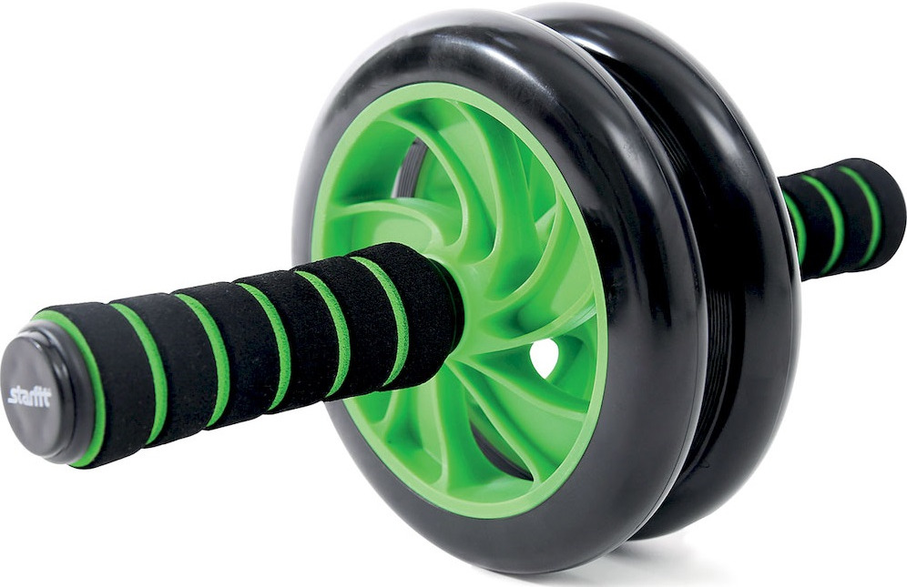 Ролик для пресса Starfit RL-102 PRO, цвет: зеленый, черный