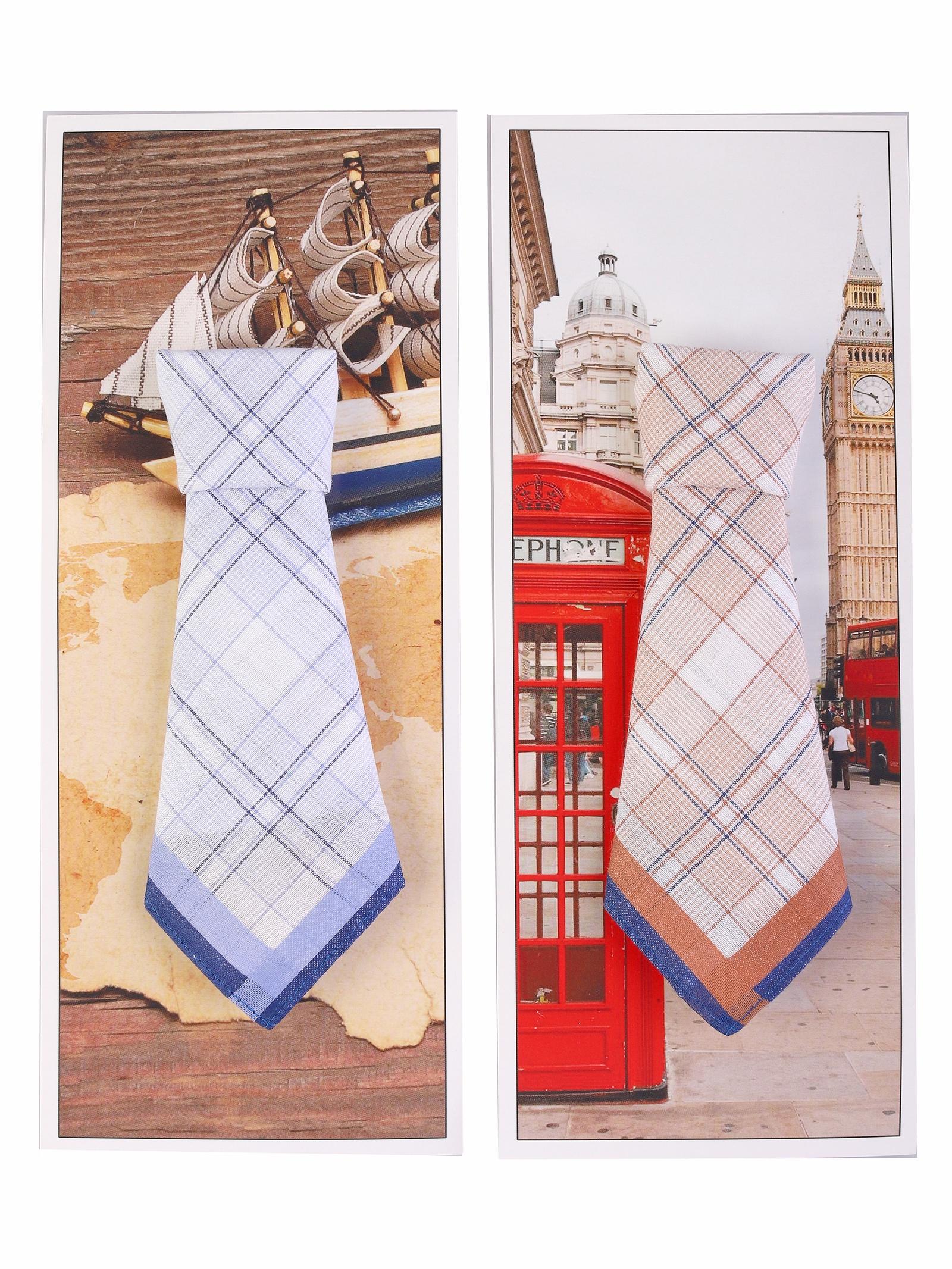 Носовой платок Etteggy ЭТ-SP430L-1x2, голубой, оранжевый, темно-синий, голубой, темно-синий, оранжевый брюки мужские oodji цвет темно синий 2b200024m 47530n 7900n размер 44 52 182