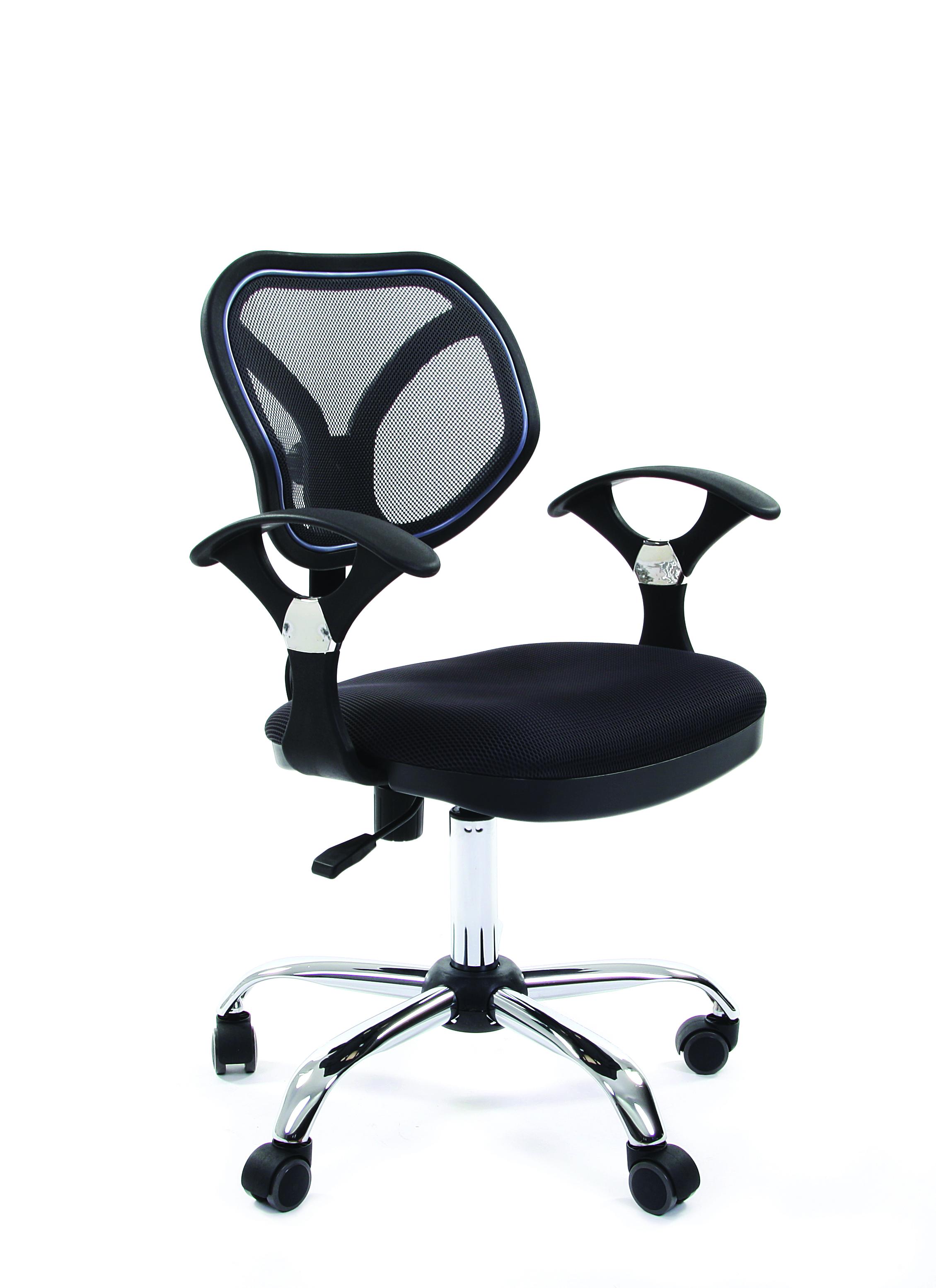 Офисное кресло CHAIRMAN 3806080047Интересное кресло. Компактное - и при этом удобное и комфортное: сетчатая спинка, эргономичные подлокотники... Простое и лаконичное - и в то же время яркое: хромированные элементы и оригинальная, необычная форма спинки. В общем - настоящее операторское кресло нового поколения.