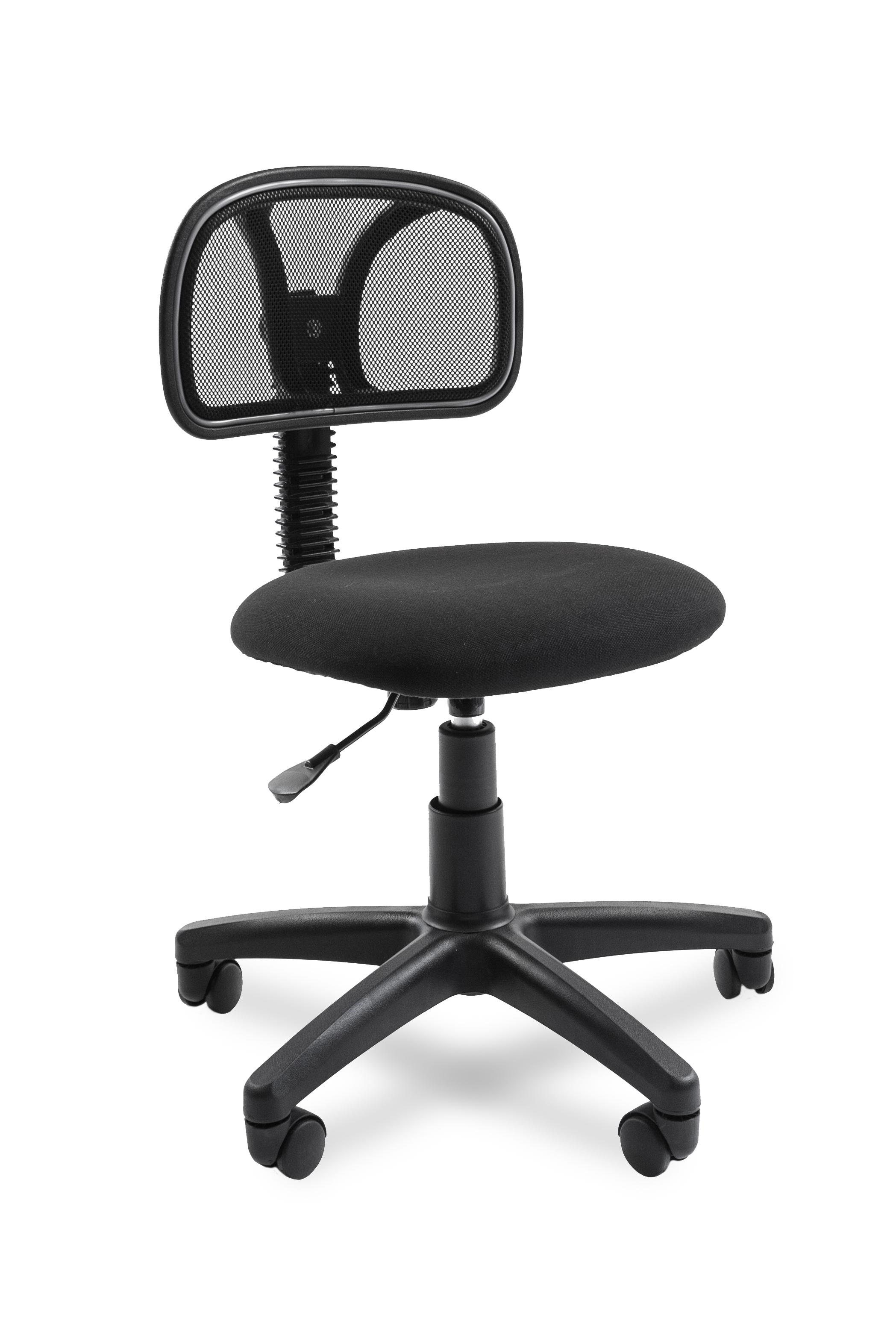 Офисное кресло CHAIRMAN 2507014780Экономичное операторское кресло. Отличительная черта - в нем нет ничего лишнего. Даже подлокотников. А в остальном - отличное, удобное и очень компактное кресло с упругой сетчатой спинкой.