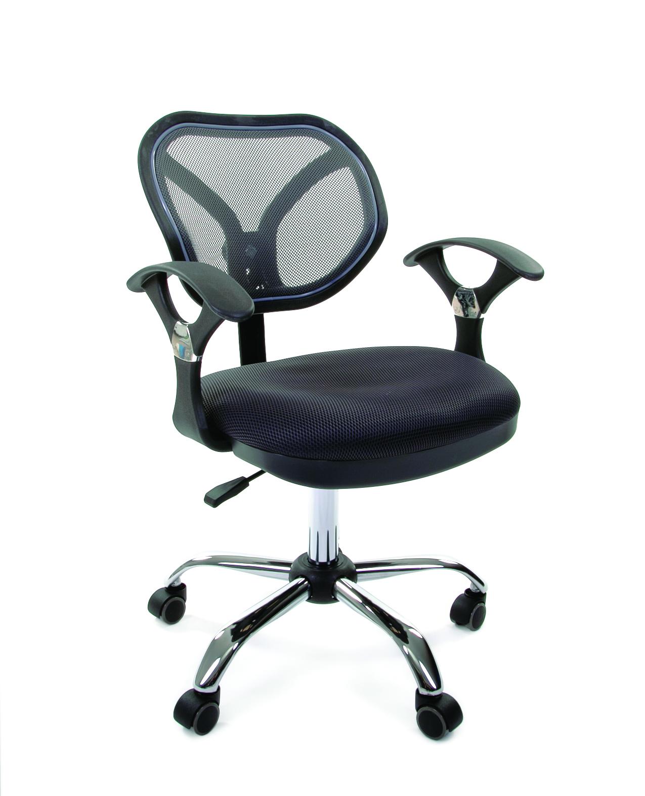 Офисное кресло CHAIRMAN 3807017600Интересное кресло. Компактное - и при этом удобное и комфортное: сетчатая спинка, эргономичные подлокотники... Простое и лаконичное - и в то же время яркое: хромированные элементы и оригинальная, необычная форма спинки. В общем - настоящее операторское кресло нового поколения.