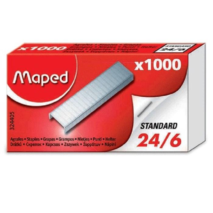 цена на Скобы для степлера MAPED (Франция) № 24/6, 1000 штук, в картонной коробке, до 20 листов