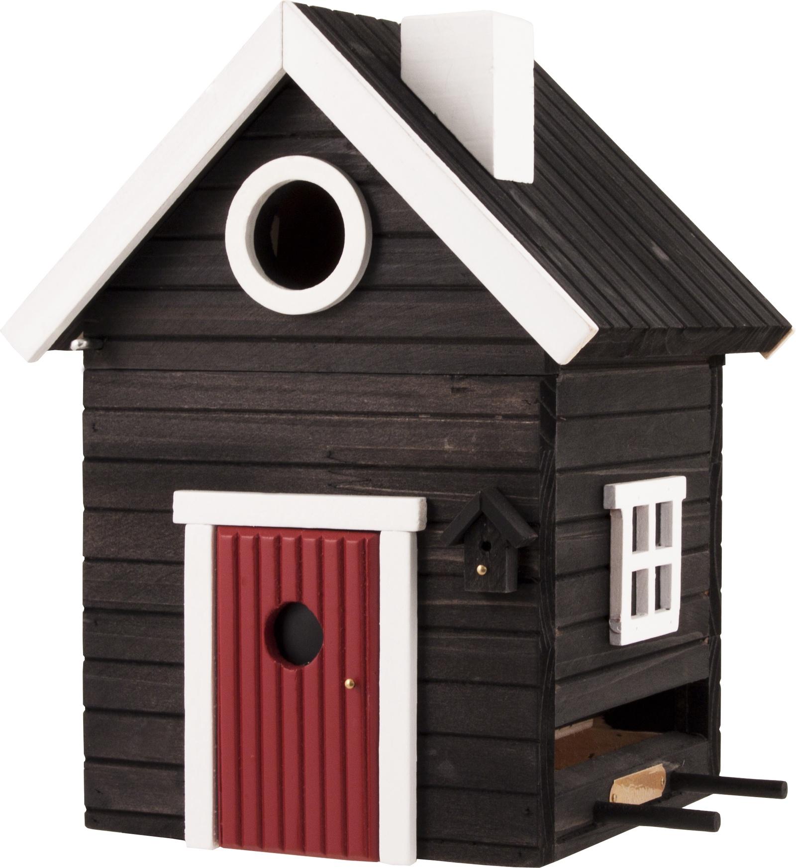 Домик для животных Wildlife Garden Garden Black Cottage кормушка для птиц wildlife garden nuts wg321 black