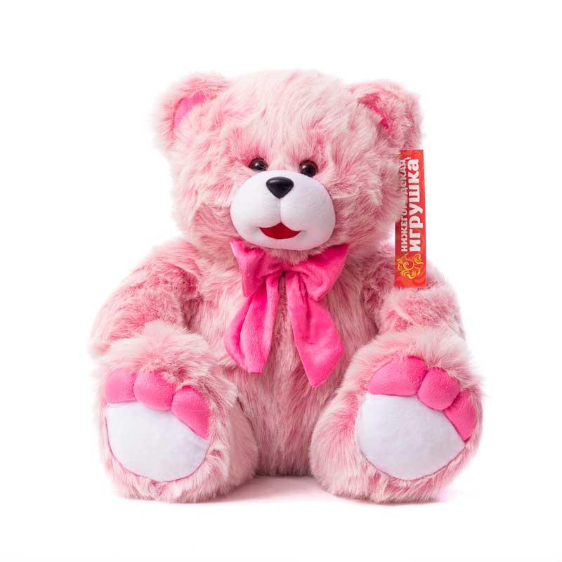 Мягкая игрушка Медведь с розовыми пальчиками Нижегородская Игрушка См-382-п-11