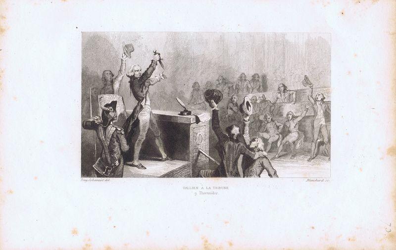 Гравюра Огюст Бланшар Великая французская революция. Жан-Ламбер Тальен на трибуне 9 термидора. Офорт. Франция, Париж, 1834 год теренс бланшар terence blanchard flow 2 lp
