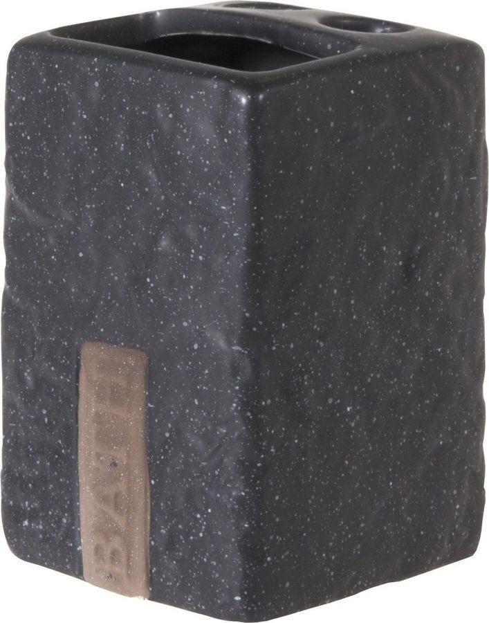 Держатель для зубных щеток Рыжий кот BATH, 3982, темно-серый, 10,5 х 7 х 7 см держатель для зубных щеток lasella ppsw007 tbh 7 х 7 х 11 см