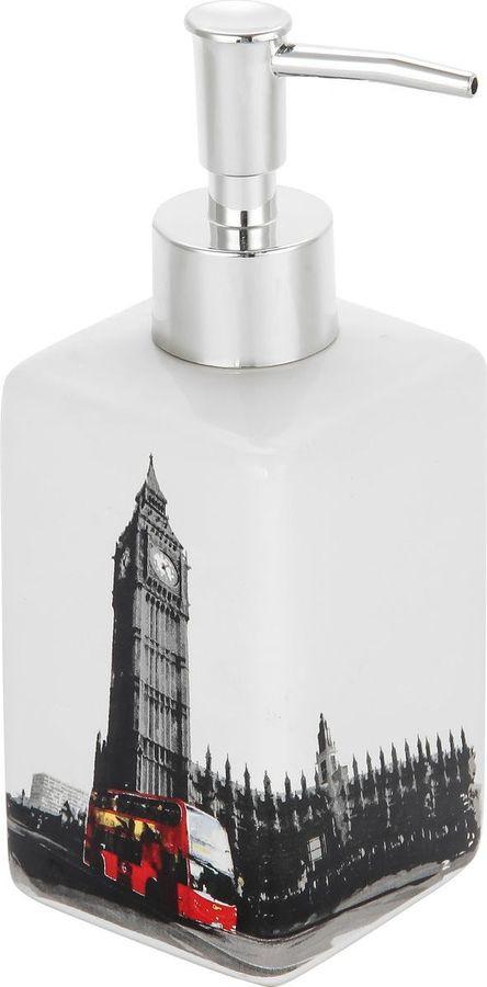 Диспенсер для мыла Рыжий кот Лондон, 2904, мультиколор, 17,2 х 6,6 х 6,6 см диспенсер для жидкого мыла рыжий кот bath dis
