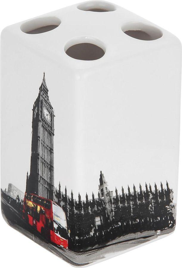 Держатель для зубных щеток Рыжий кот Лондон, 2905, мультиколор, 10,5 х 6,5 х 6,6 см держатель для зубных щеток lasella ppsw007 tbh 7 х 7 х 11 см