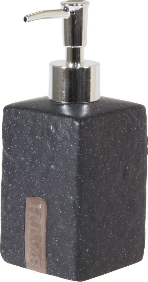 Диспенсер для мыла Рыжий кот BATH, 3983, темно-серый, 17 х 7 х 7 см диспенсер для жидкого мыла рыжий кот bath dis